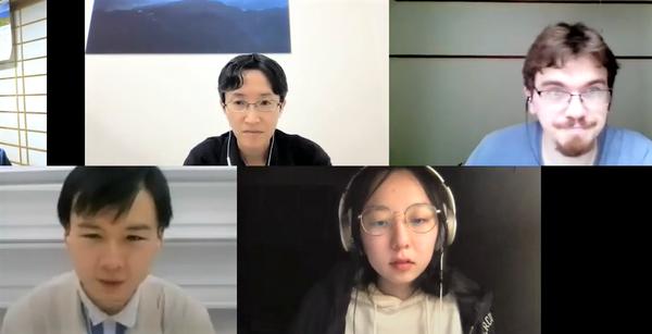 2021年度前期「日本語総合E」の授業風景