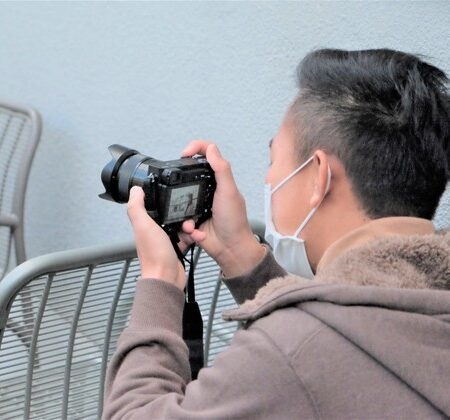 受講生による広報写真撮影